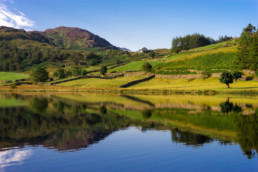 A lake surrounded by hills in Cumbria